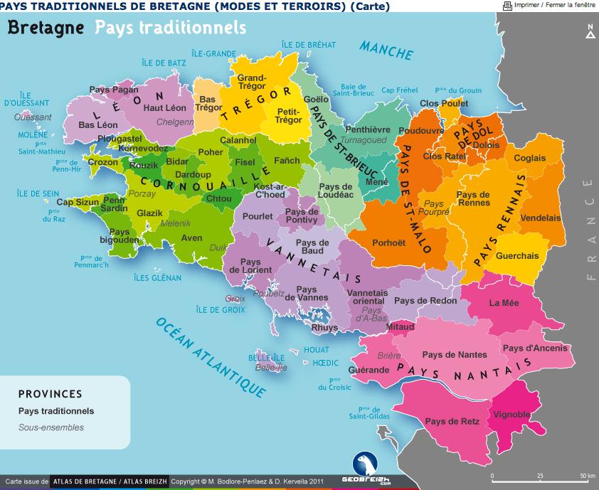 La Bretagne vu par différentes cartes