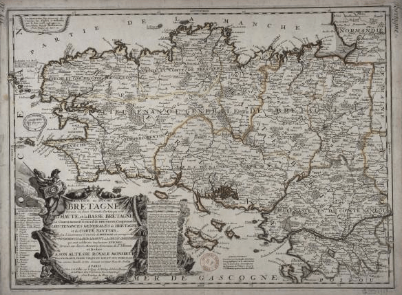 carte bretagne 1695